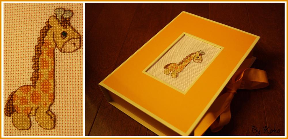 kokoz 39 cross stitching jolie bo te de rangement petite girafe. Black Bedroom Furniture Sets. Home Design Ideas