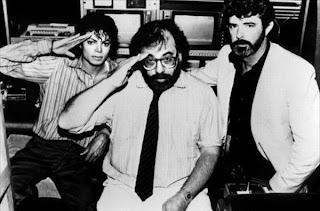 Francis Ford Coppola junto a Michael Jackson y George Lucas