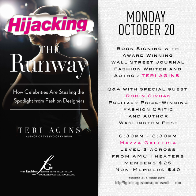 http://www.eventbrite.com/e/hijacking-the-runway-book-signing-with-award-winning-wall-street-journal-fashion-writer-author-teri-tickets-13190574363