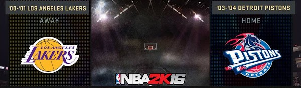 NBA 2k16 : 2001 Lakers and 2004 Pistons