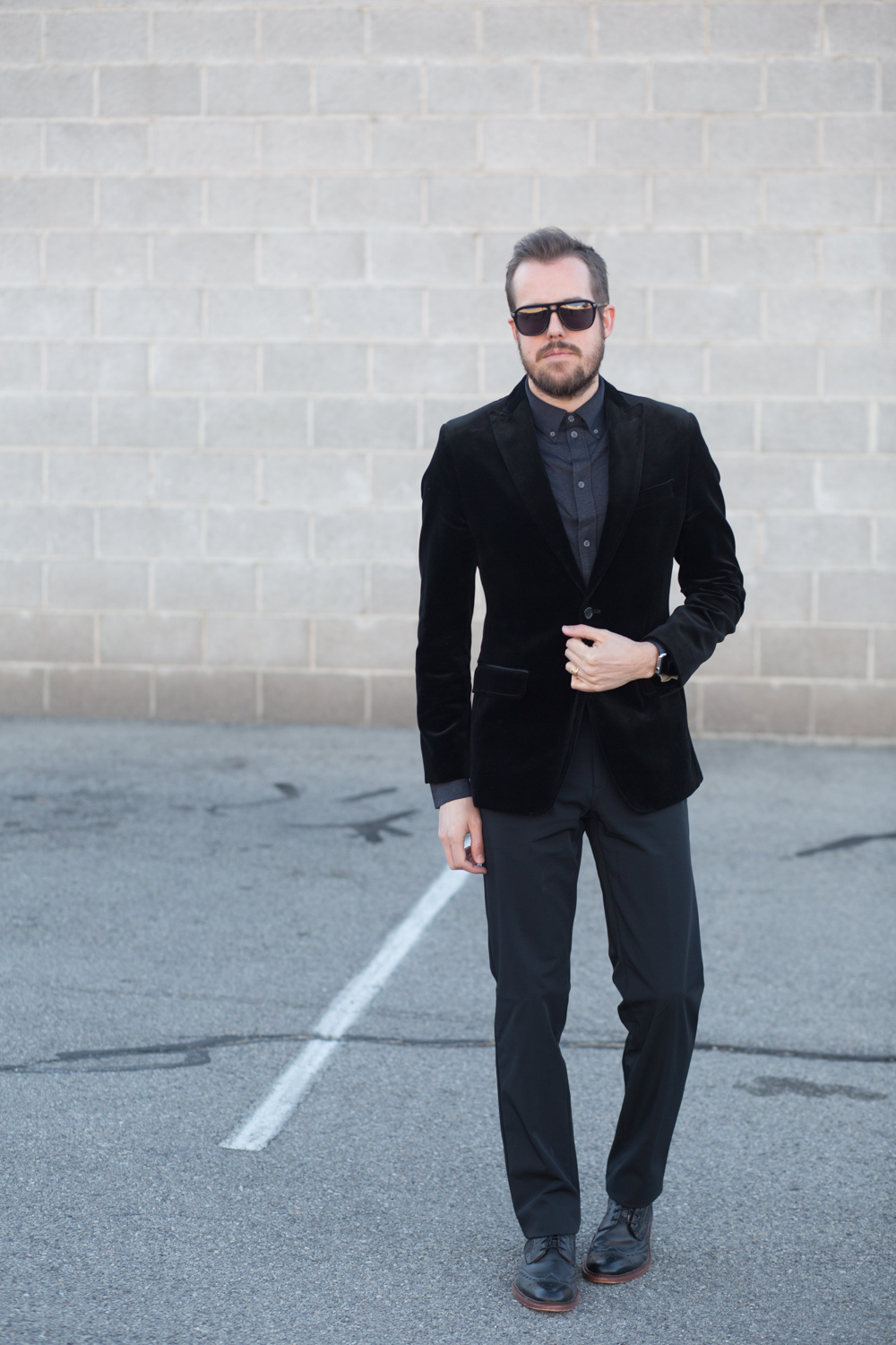 Menswear Fashion Blog- Black Velvet Blazer