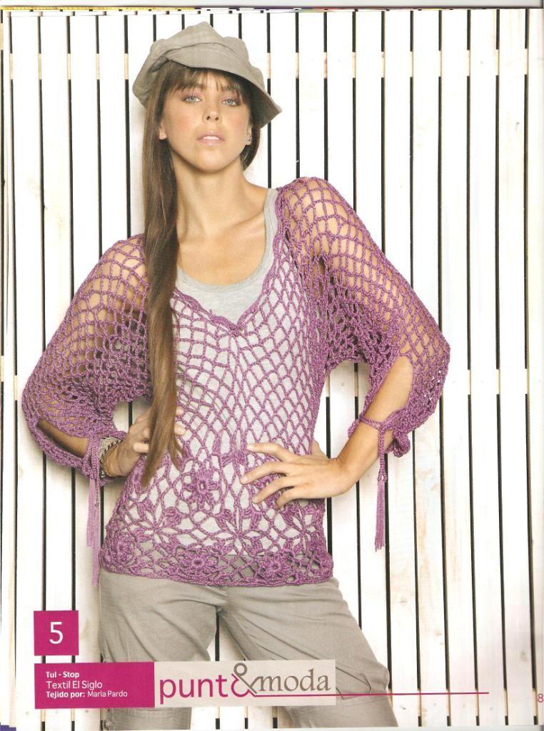 Crochet Style ~: ~Blusa Morada