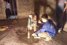 Thau dọn bể nước ngầm quận Hoàng Mai