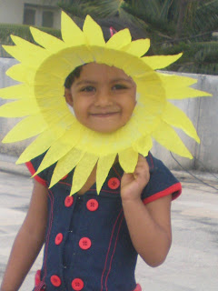 Photograph of kid as Sunflower