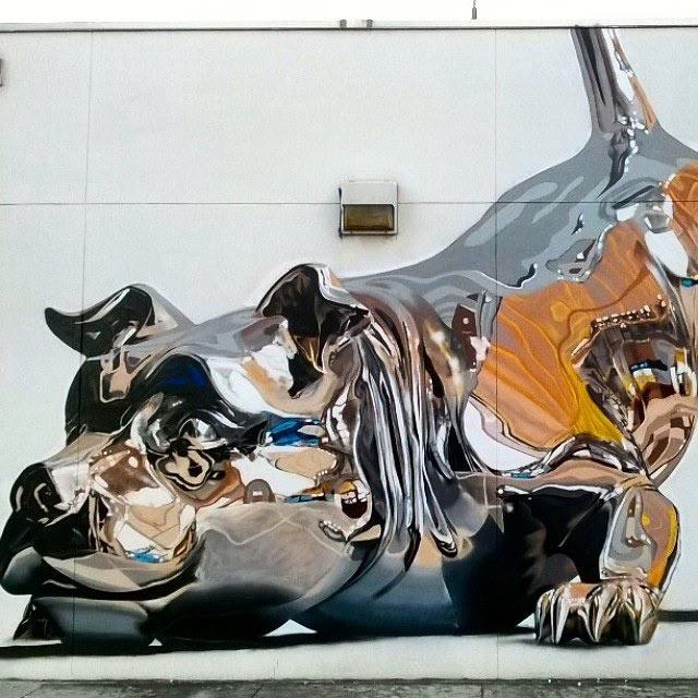 Bikismo crea un mural metálico absolutamente increíble