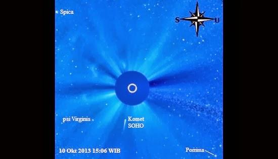 """Foto: Komet SOHO """"Bunuh Diri"""" ke Matahari"""