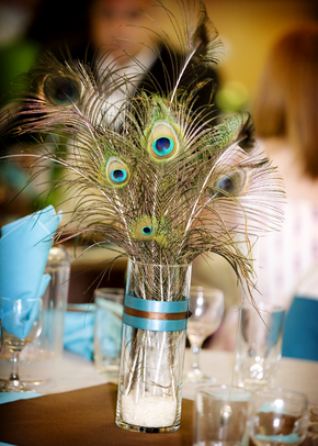 Great ideas for the busy little bride peacock wedding - Peacock arrangements weddings ...