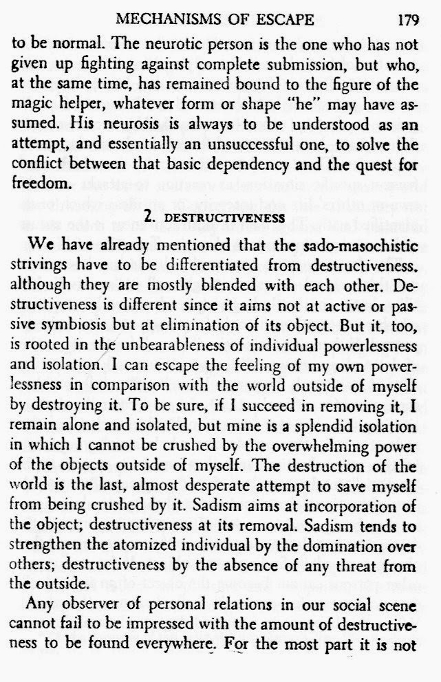 Destroy From Escape From Freedom By Erich Fromm