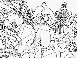 Dinosaur Brontosaurus Coloring Page