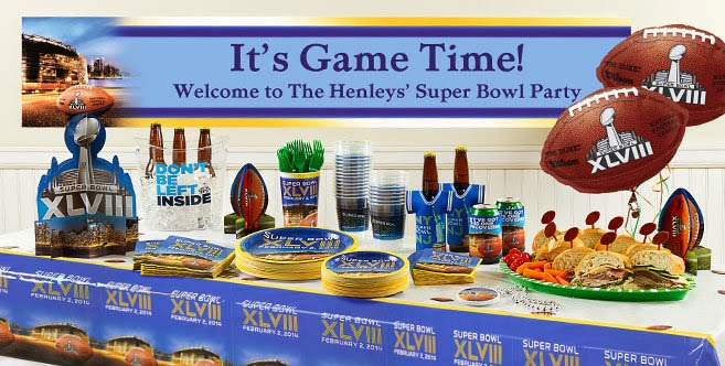 Your local Party City has all the disposable plates, cups, napkins and utensils you need in the Denver Broncos, Seattle Seahawks or the generic Super Bowl theme.