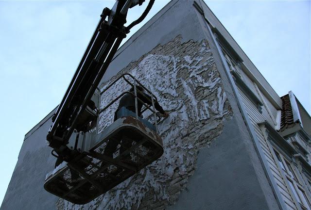 street artist vhils at work for nuart 2013 3