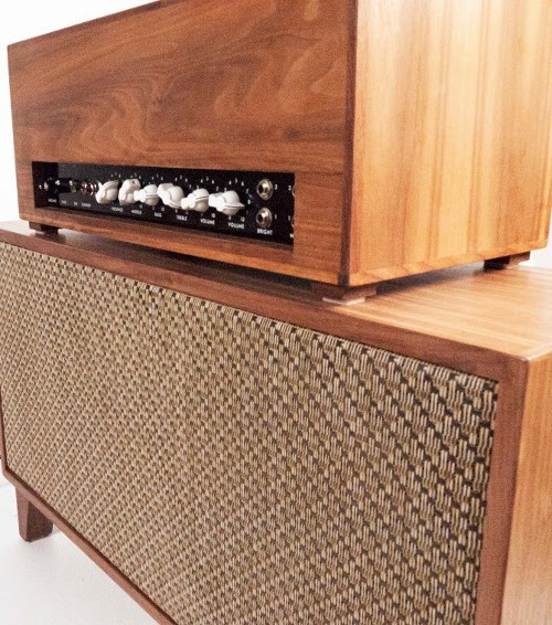 Upcycled Guitar Amp Mid Century