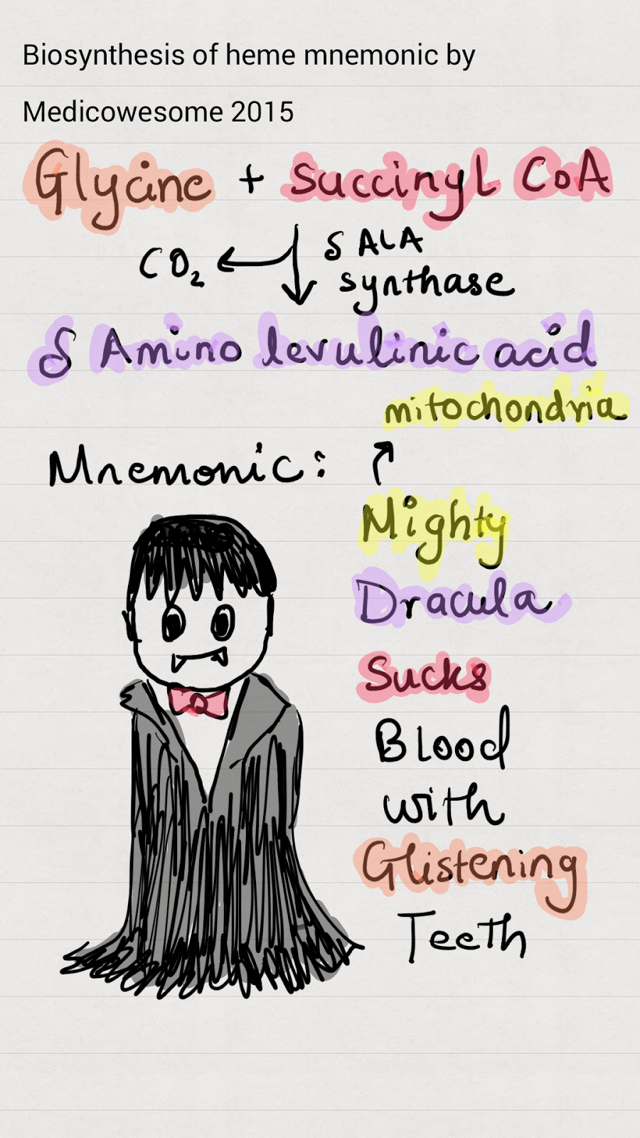 Heme Synthesis Mnemonic