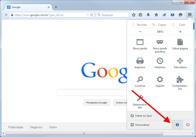 Firefox - Abrir Ajuda