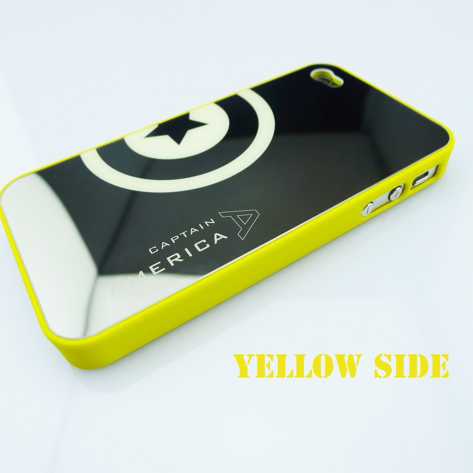 MIRROR DELUXE LUMINOUS LIGHT HARD CASE COVER AMERICA CAPTAIN FOR IPHONE 4 4S NEW