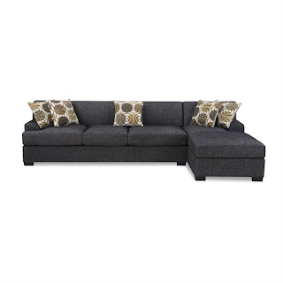 black microfiber sectional sofa in black ash