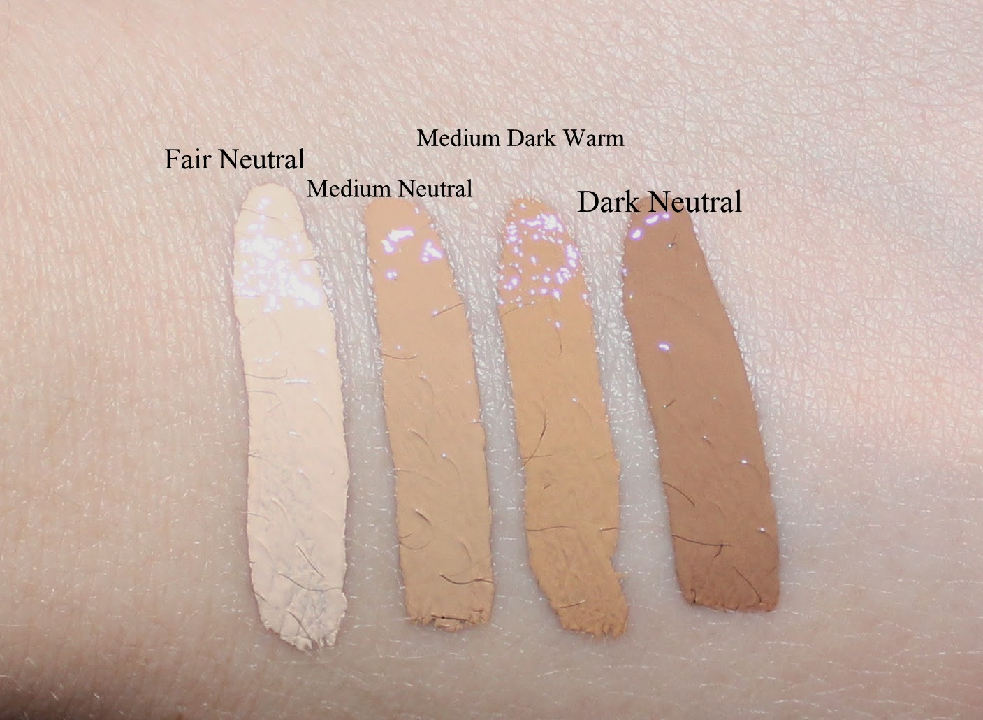Urban Decay Naked Skin Weightless Complete Coverage Concealer Swatches