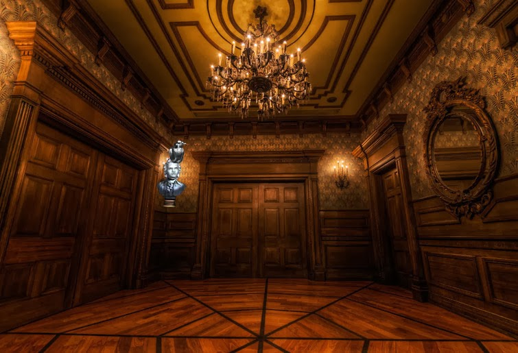 Mansion Foyer : If i ran the park changes to disneyland haunted