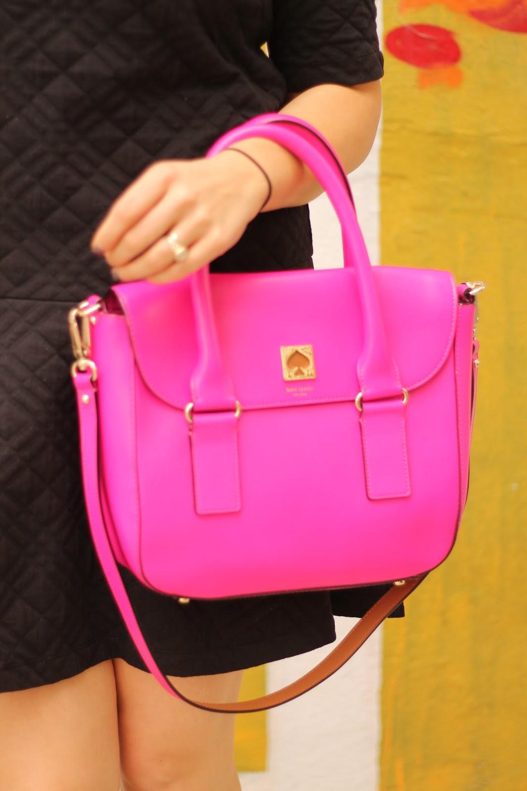kate, spade, pink, bag