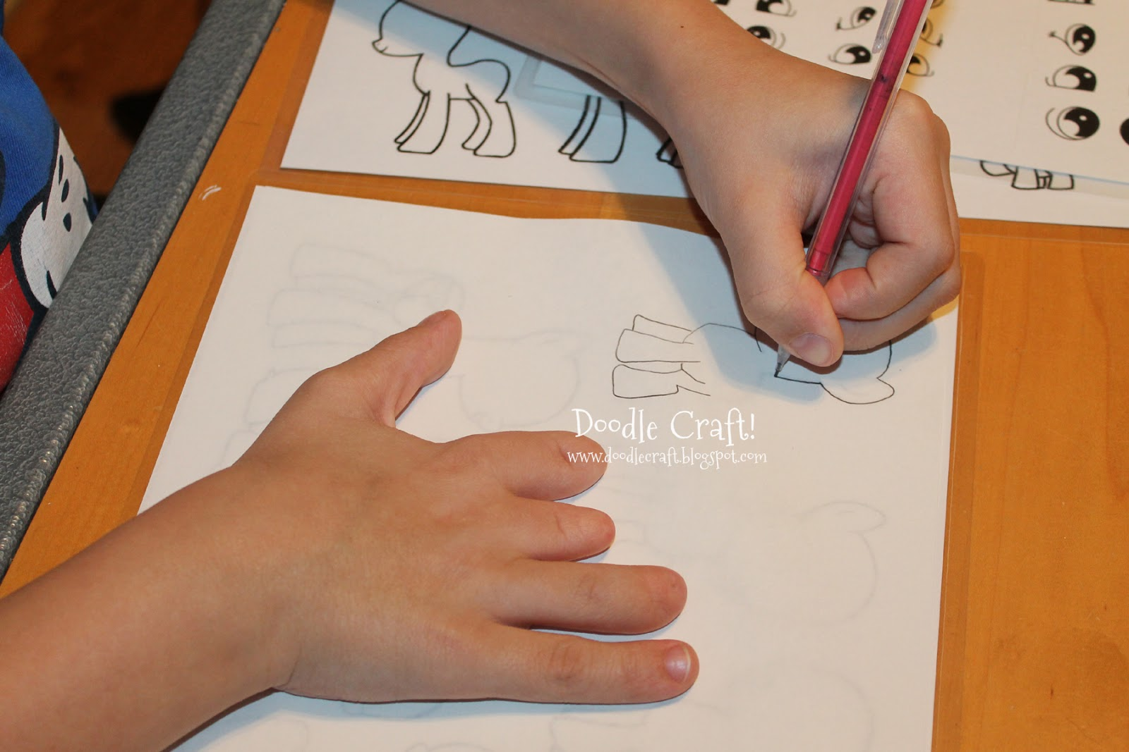 Then the kids could trace ponies to their hearts content