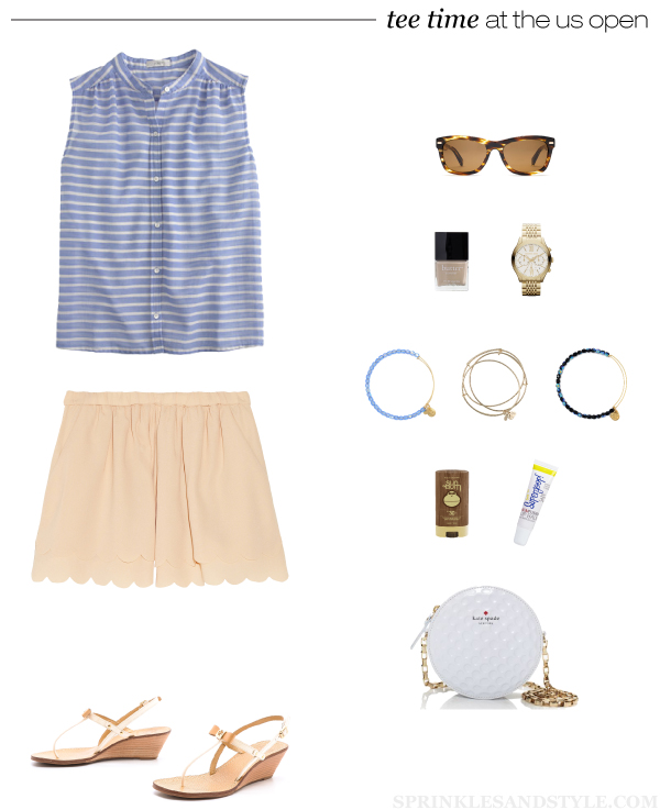 Sprinkles and Style || What to Wear: US Open Golf