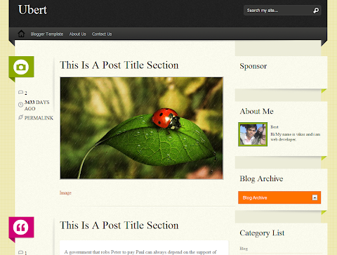 Ubert Blogger Theme