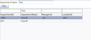Filtered Data in af:table