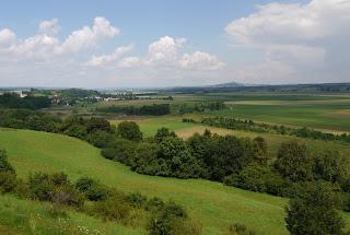 Ausblick von der Heuneburg in Richtung Nordosten