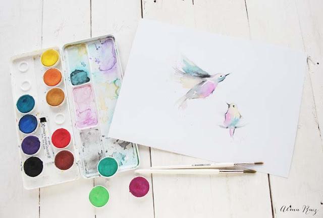 Pintando con acuarela