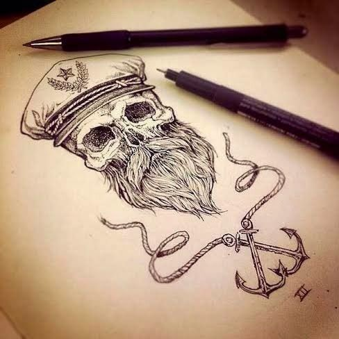 ♥ ♫ ♥ Awesome Pirate Tattoo ♥ ♫ ♥