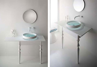integrate wash basin table concept