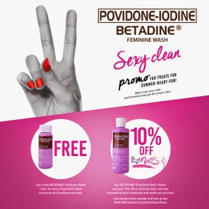 Posh Nails Betadine promo