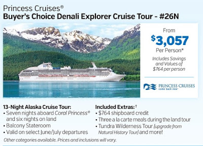 Alaskan Cruise by Princess Cruises from Costco