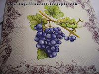 виноградная тарелочка
