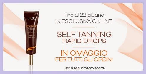 "KIKO - In omaggio ""Self Tanning Rapid Drops"""
