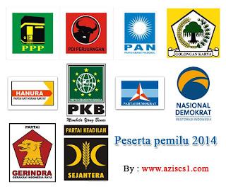 Kumpulan Logo partai pemilu 2014 vektor