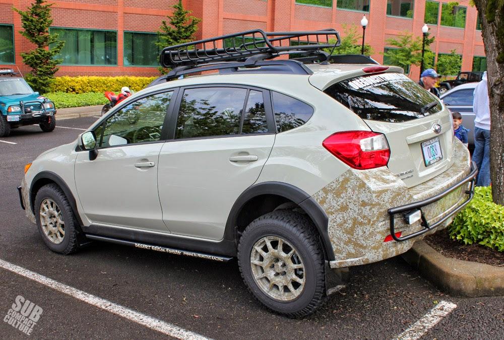 Rear of Primitive Desert Edition Subaru XV Crosstrek