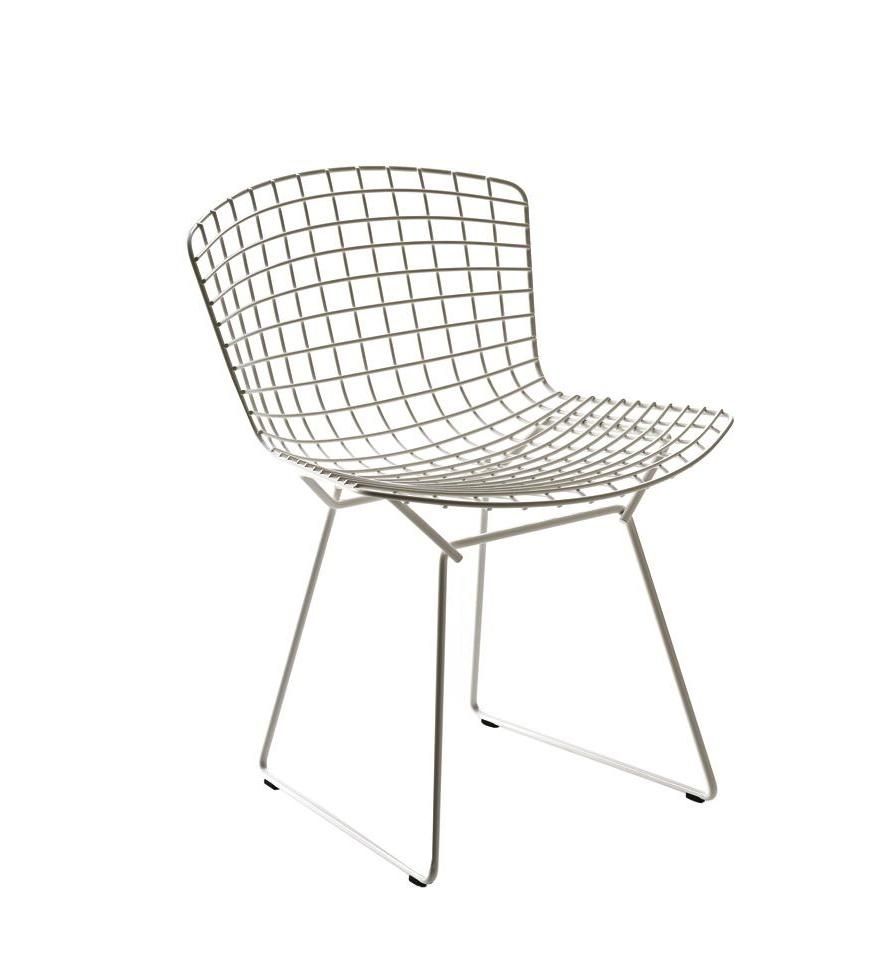 Bertoia side chair white - Henry Bertoia Wire Side Chair White Mid Century Modern