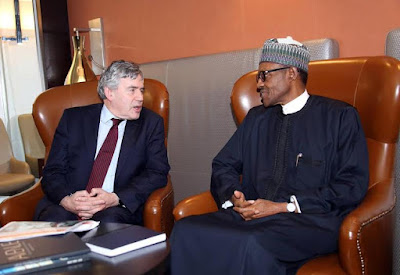 Buhari and ex British PM Gordon Brown