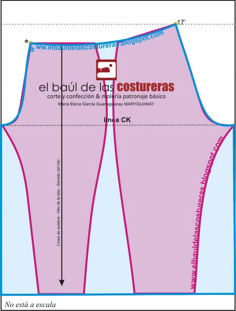 CINTURA: realizar una vista de 6 cm con la forma de la cintura, para