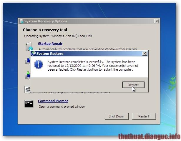 Khắc phục lỗi không thể khởi động ở Windows