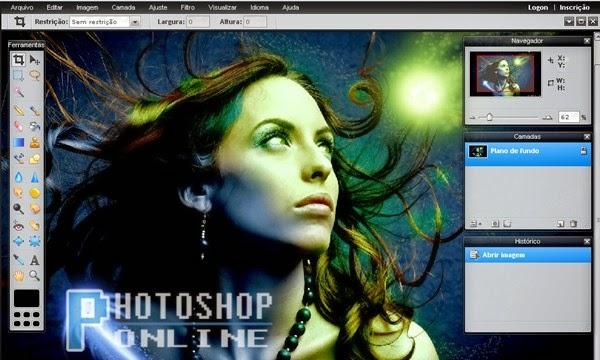 Como colocar efeito em fotos no photoshop online