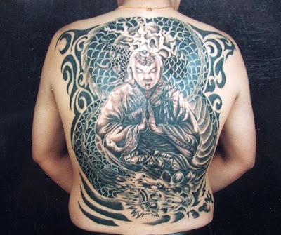 Tatuaje Buda y dragón