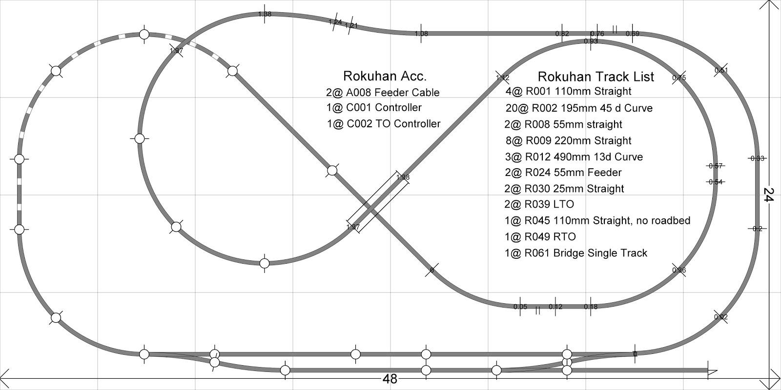 image result for rokuhan track plans model railway track plans