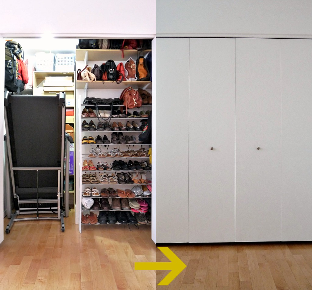 Closet Make-under PLUS Hiding a Treadmill | Dans le Lakehouse