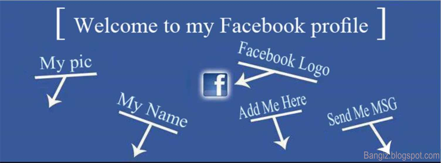Welcome to My Profile Facebook Cover