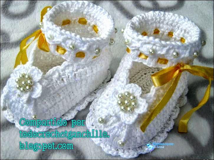 Patucos / escarpines al crochet