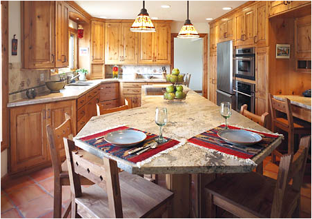 Southwestern Design Ideas 5 tags southwestern kitchen with talavera mexican ceramic tile in triangles tundra gray marble countertop Southwestern Kitchen Design Ideas