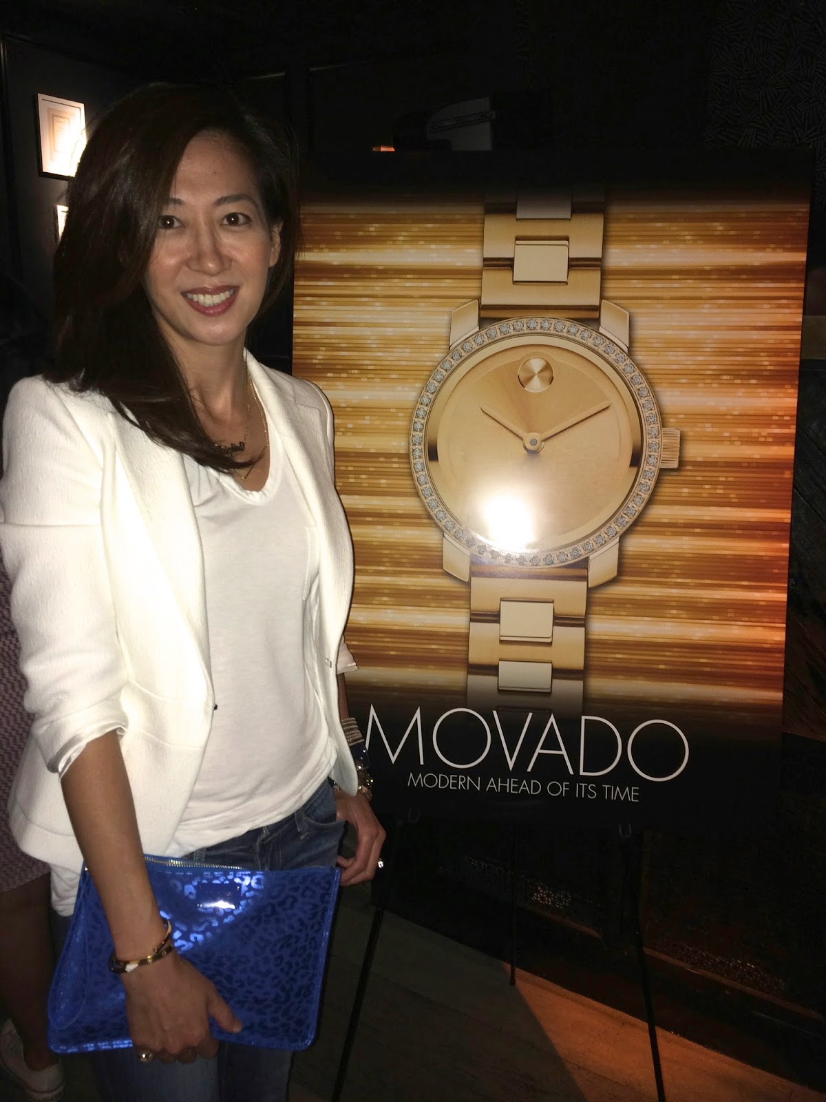 OOTD next to Movado signage