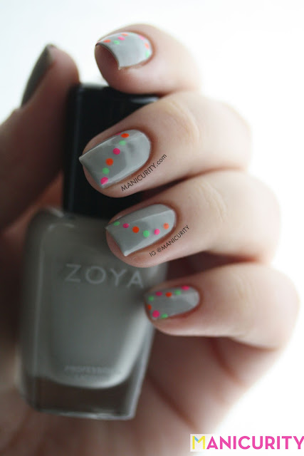 Manicurity | Neon Dotty Garland nail art
